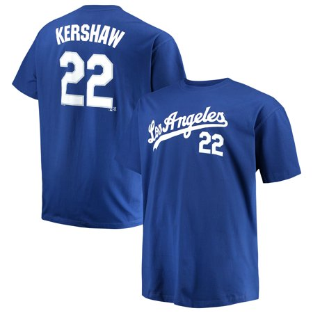 Men's Majestic Clayton Kershaw Royal Los Angeles Dodgers MLB Name & Number T-Shirt