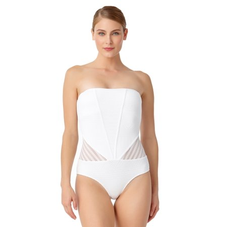 Anne Cole Anne Cole Womens Crochet All Day Bandeau One Piece