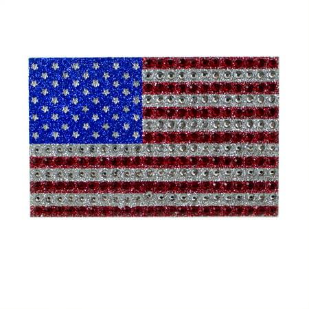 International Truck Emblem - Car Truck Trunk Window Emblem - 3D Color - Bling - American US Flag