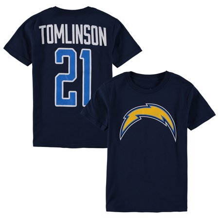 new product 81fe8 cc2da LaDainian Tomlinson San Diego Chargers Youth Retired Player Distressed  Current Logo Name & Number T-Shirt - Navy