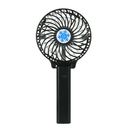 Portable USB 18650 Battery Rechargeable Fan Ventilation Foldable Air Conditioning Fans Foldable Cooler Mini Operated Hand Held Cooling Fan for Outdoor Home (Black) - Battery Operated Fan And Light