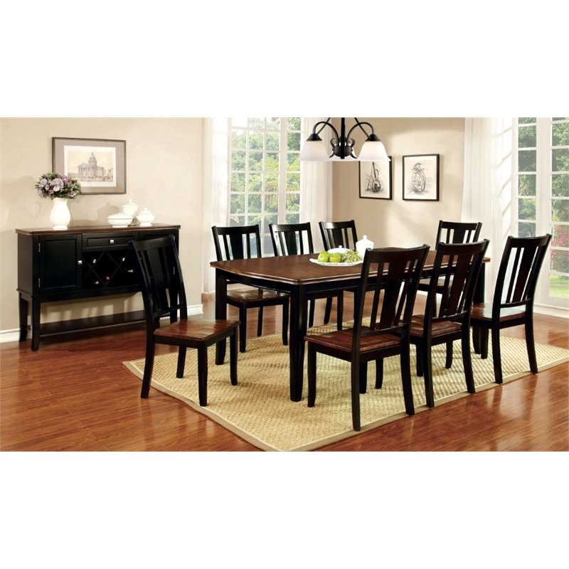 Furniture Of America Delila 9 Piece Extendable Dining Set In Cherry