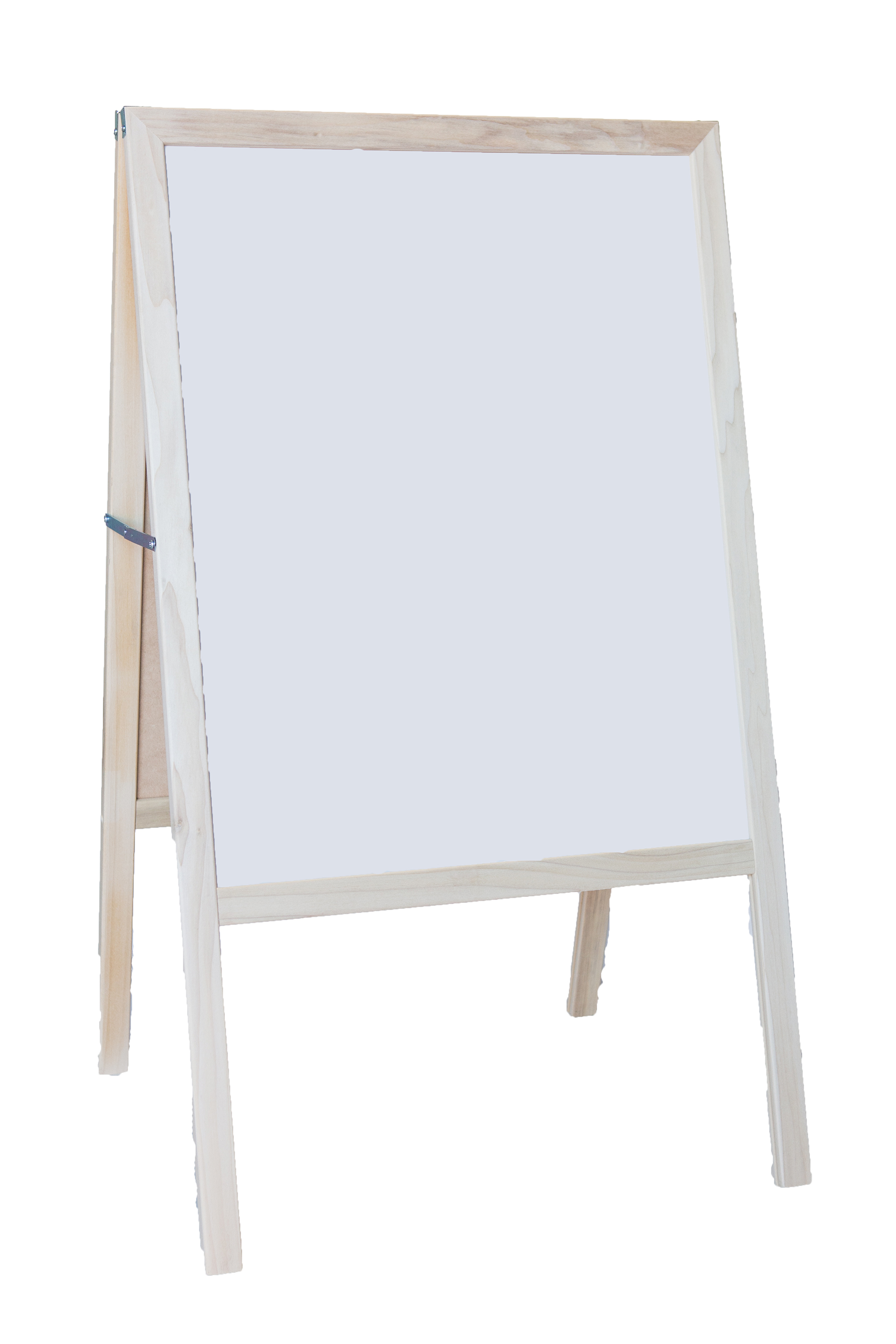 "42"" X 24"" Natural Marquee Easel White Dry Erase   Black Chalkboard by Flipside Products"