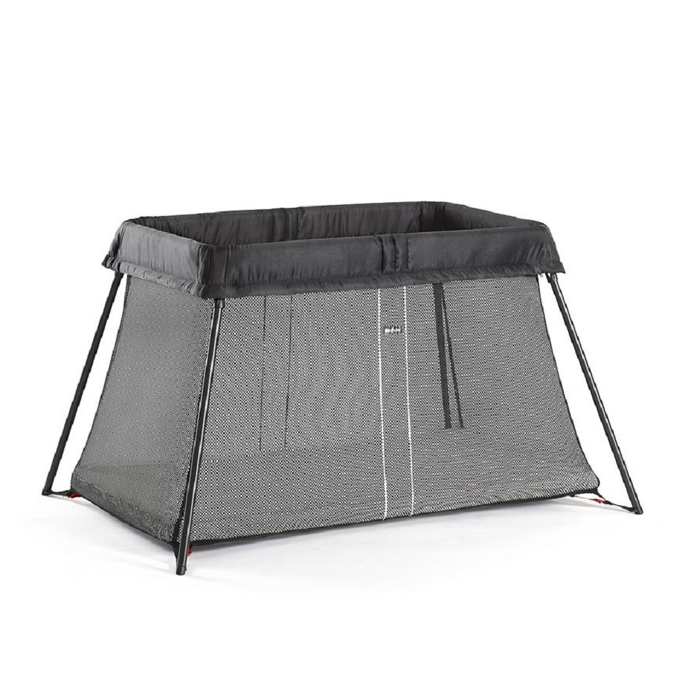 BabyBjorn Travel Crib Light Black and Fitted Sheet Bundle Pack