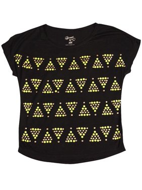 226ebdd29 Product Image Flowers by Zoe Girls Cap Sleeve Cropped T - Shirt, 35671  Black Tribal / 12