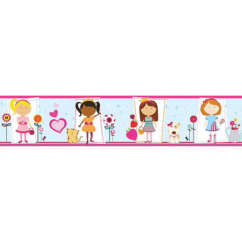 Blue Mountain Wallcoverings Girly Girl Border Self-Stick, 5""