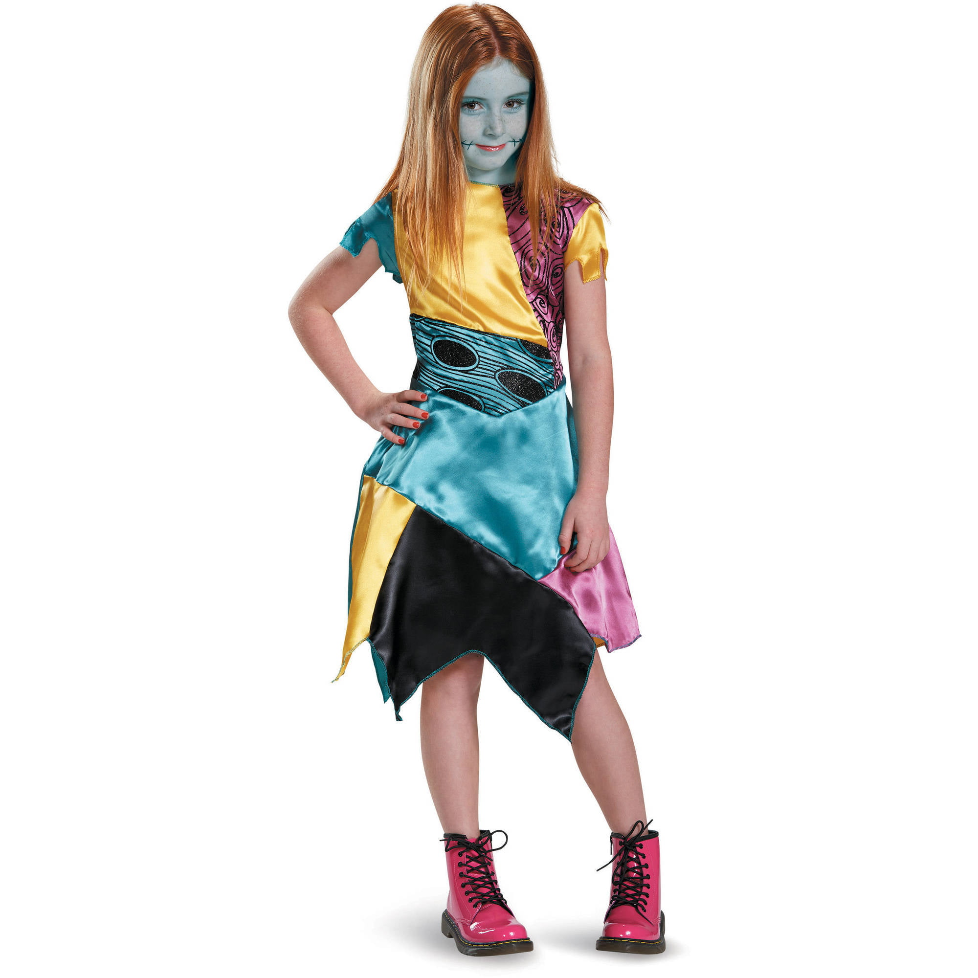 disney nightmare before christmas classic sally child halloween costume child girls 10 12 walmartcom - Nightmare Before Christmas Halloween Costume