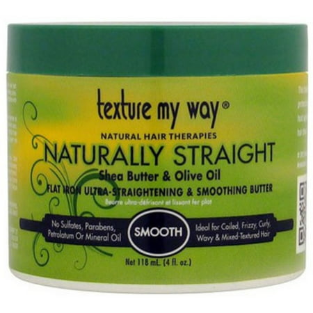 - Texture My Way  Flat Iron Ultra-Straightening & Smoothing Butter, 4 oz