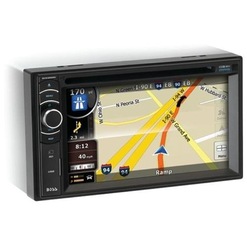 Boss Audio BV9386NV Double-DIN In-Dash DVD Receiver with Navigation, Full Apple iPodControl and Bluetooth