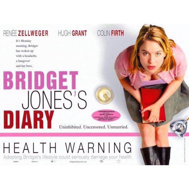 Bridget Jones S Diary 2001 11x17 Movie Poster Walmart Com Walmart Com