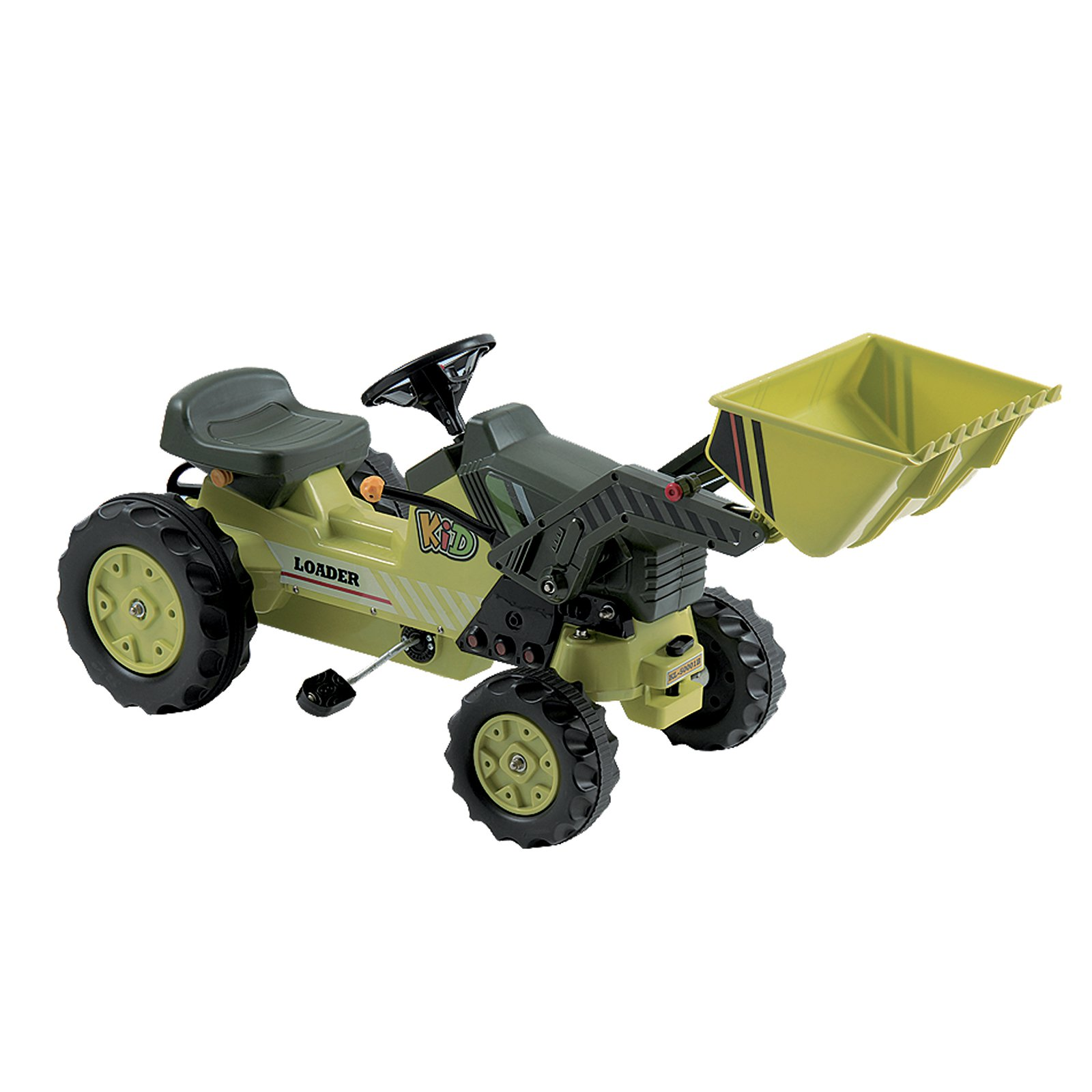 Pedal Tractor with Loader, Green
