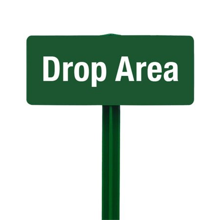 EverMark SSKT26-05 Drop Area Sign with Hunter Green Stake