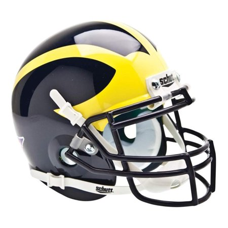 Authentic Ncaa Football Helmets (NCAA Michigan Wolverines Mini Authentic XP Football Helmet, Classic, Real metal faceguard By)