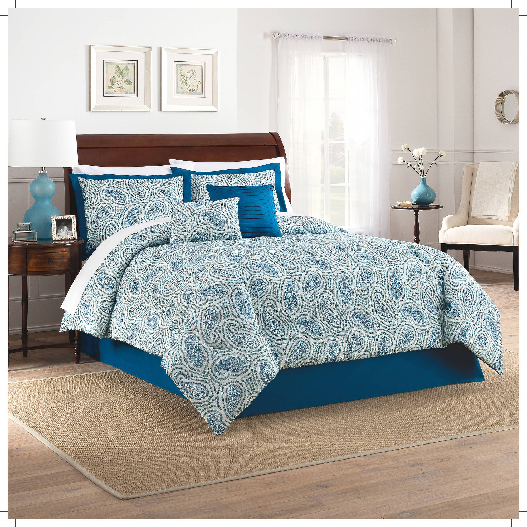 Traditions by Waverly Paisley Proposal 6-Piece Comforter Set