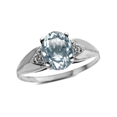 Star K Oval 9x7 Genuine Aquamarine trillion miracle setting wide band Ring