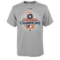 Houston Astros Majestic Youth 2017 World Series Champions Locker Room T-Shirt - Heather Gray