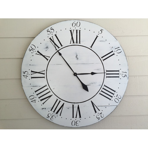 essex crafted wood products oversized 36 chalkwell vintage style painted wood wall clock