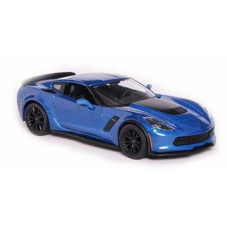 2015 Chevrolet Corvette C7 Z06 Blue 1/24 by Maisto 31133 Blue Two Tone Corvette