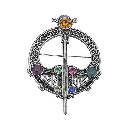O.S.Large Celtic Tara Brooch