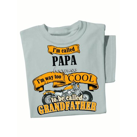 - Mens Way Too Cool Grandfather Novelty Tee, X-Large, Natural