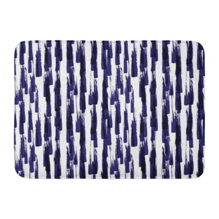 Abstract Paint (GODPOK Impressionism Blue Brush Pattern with Spots and Blobs of Paint Ink Striped Abstract Colorful Watercolor Rug Doormat Bath Mat 23.6x15.7 inch )