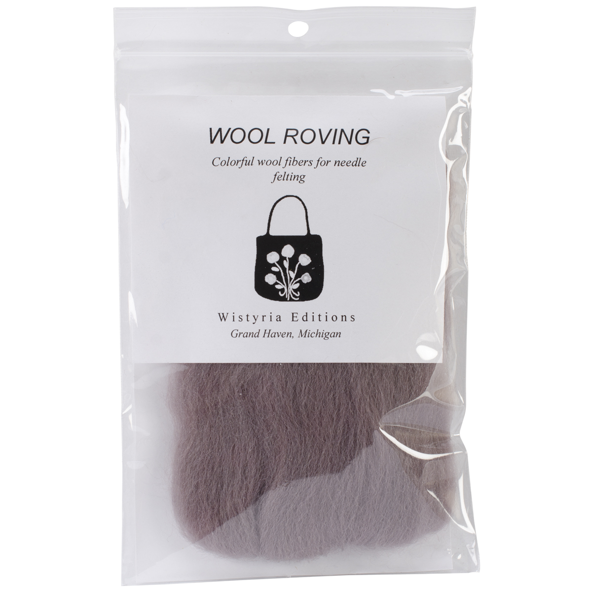"Wistyria Editions Wool Roving 12"" .22oz-Taupe"
