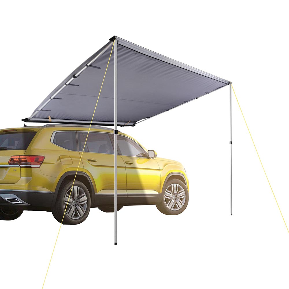 Yescom 8.2'x8.2' Car Side Awning Rooftop Pull Out Tent Sh...