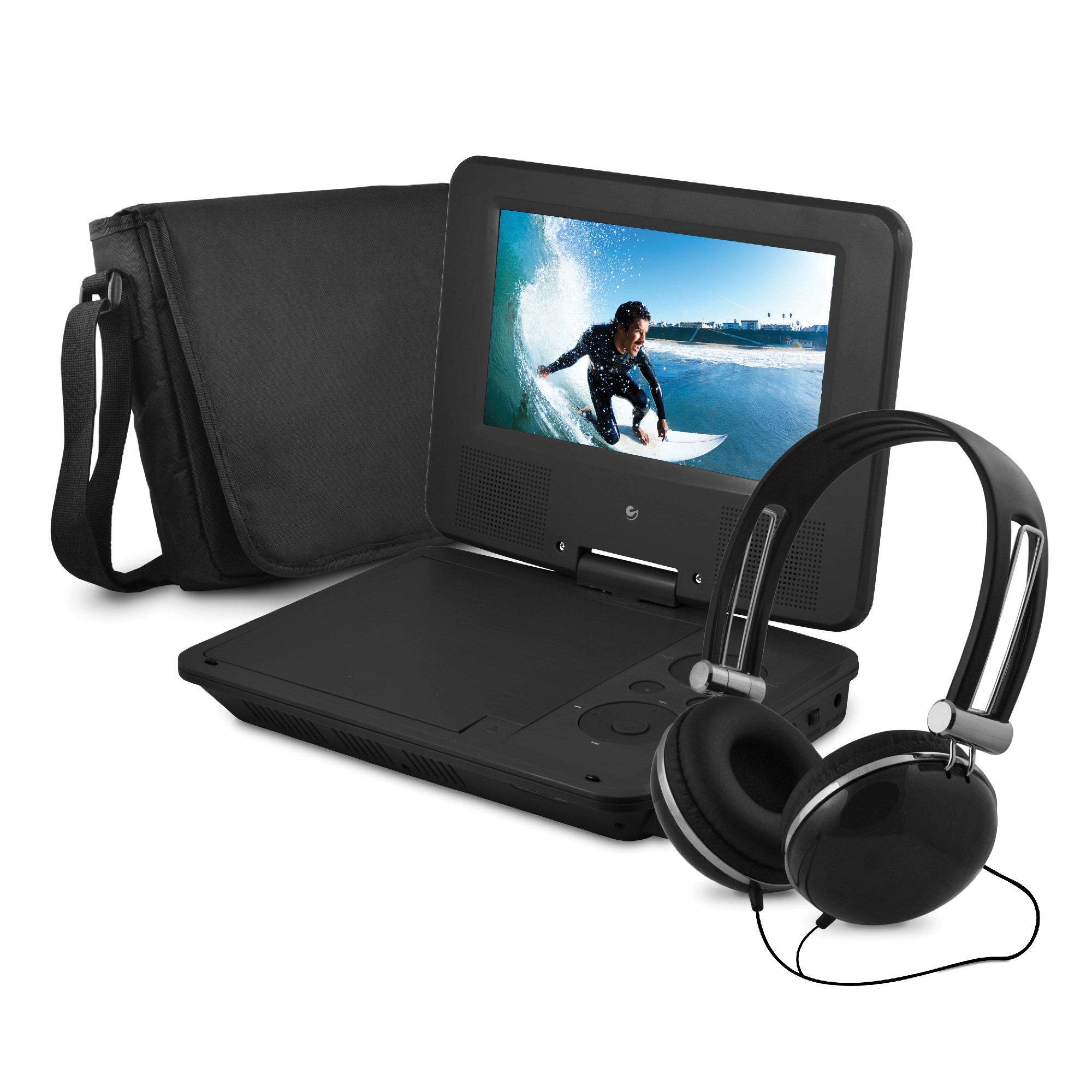 "Onn 9"" Portable Dvd Player With Matching Headphones And Bag"