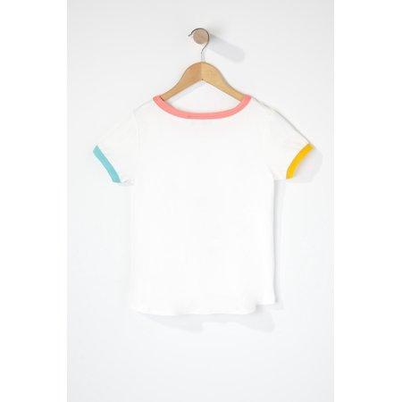 Urban Kids Youth Girls Rainbow Unicorn Ringer T-Shirt - image 1 of 2