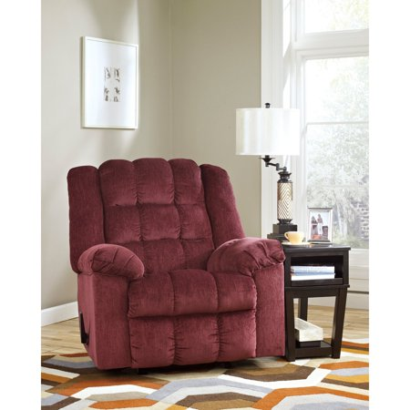 Flash Furniture Signature Design By Ashley Ludden Rocker Recliner In Burgundy Twill