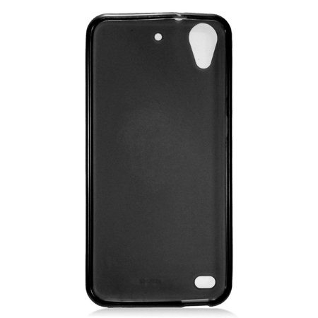 HTC Desire 530 Phone Case, by Insten TPU Rubber Candy Skin Case Cover For HTC Desire 530, Black - image 1 de 3
