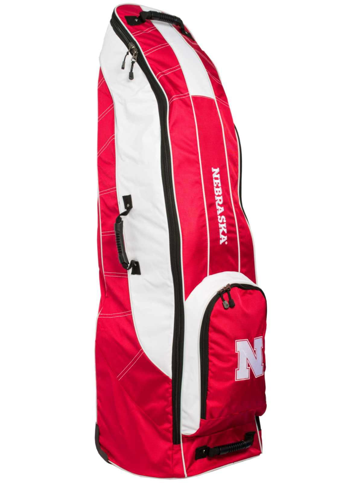 Nebraska Cornhuskers Team Golf Red Golf Clubs Wheeled Luggage Travel Bag by Team Golf