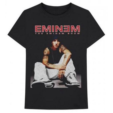 Eminem Seated Show T-Shirt 2002 Album Cover Band Tour Rapper Adult Tee