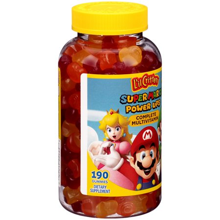 Lil Critters  Super Mario  Power Ups Complete Multivitamin Dietary Supplement Gummies 190 Ct Bottle