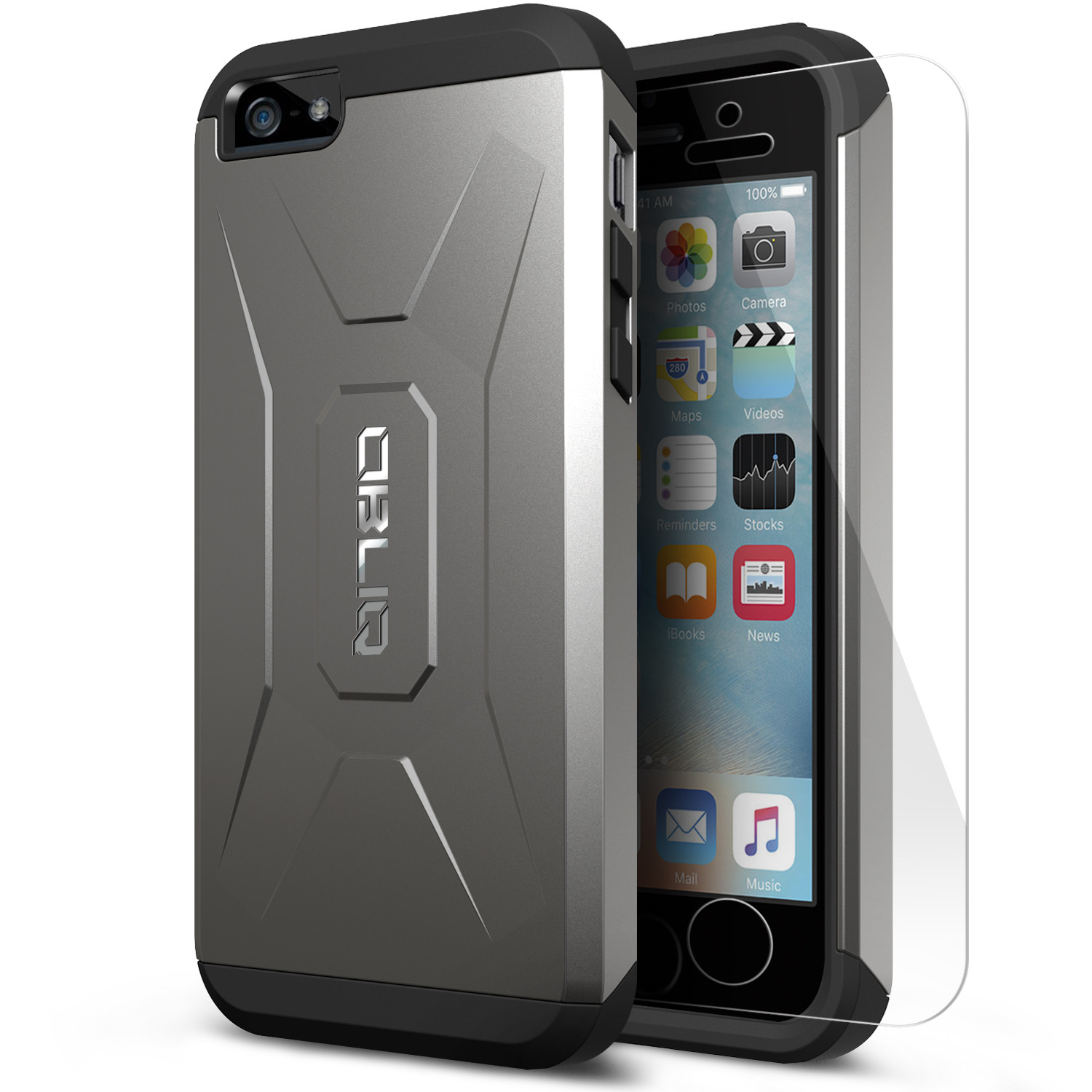 OBLIQ, iPhone 5C Case [Xtreme Pro][Gun Metal] Hybrid Rugged Dual Layered Armor Shock Resistant Protective Cover for Apple iPhone 5C