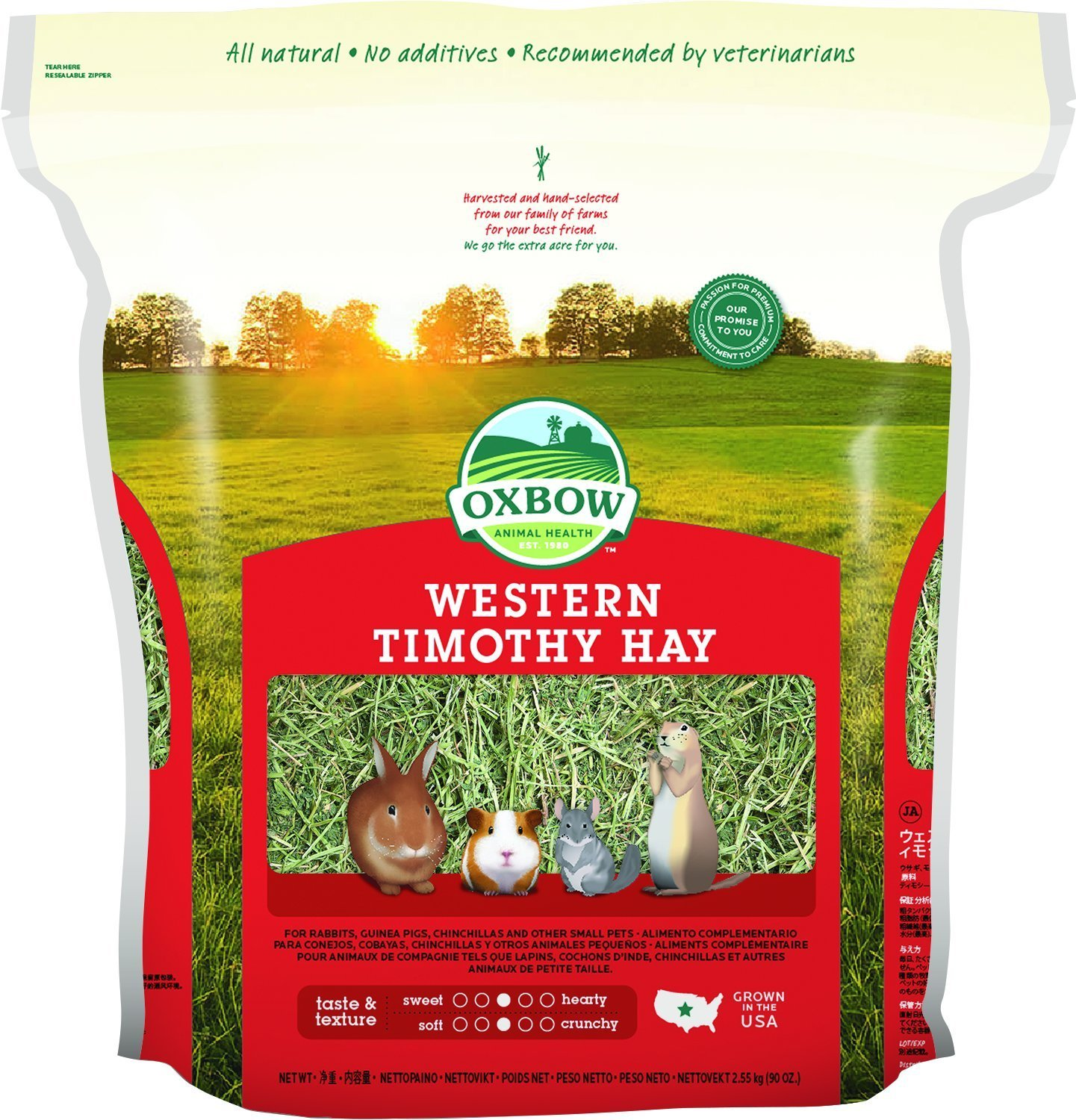 Oxbow Western Timothy Hay for Pets, 90 oz.