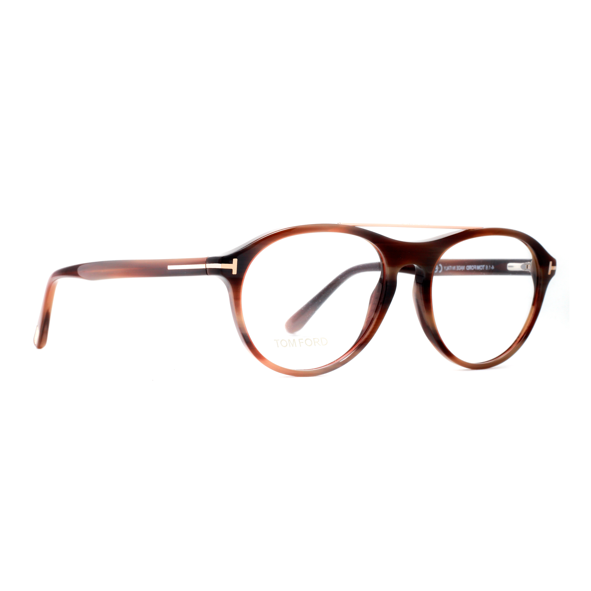 d4cd03e7f48 Tom Ford TF 5411 062 53mm Brown Horn Gold Men s Round Eyeglasses -  Walmart.com