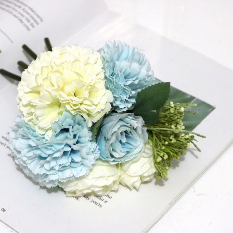 Details about  /Heads Bouquet Artifical Party Decorations Wedding Hydrangea Silk Flower Peony 5