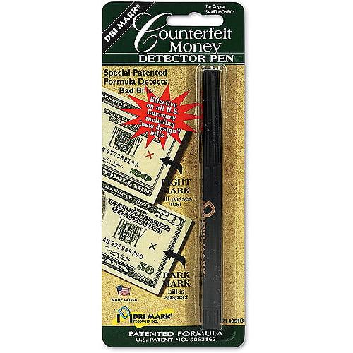 Dri-Mark Smart Money Counterfeit Bill Detector Pen for Use w/U.S. Currency