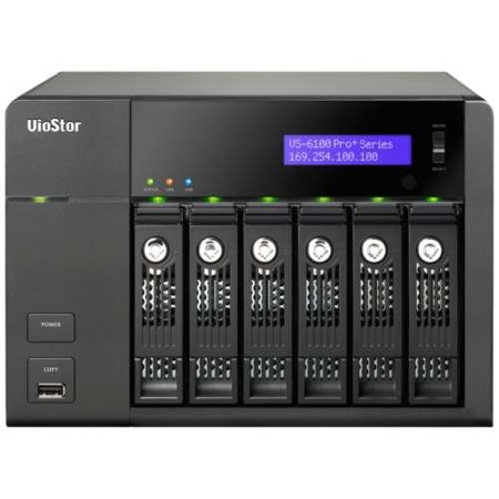 QNAP VS-6112-PRO+-US 6BAY NVR 12CH IP SURVEILLANCE INTEL D CORE 2.6GHZ 4GB RAM SATA3