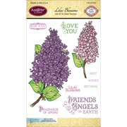 """JustRite Papercraft Clear Stamps 4""""X6""""-Lilac Blossoms"""