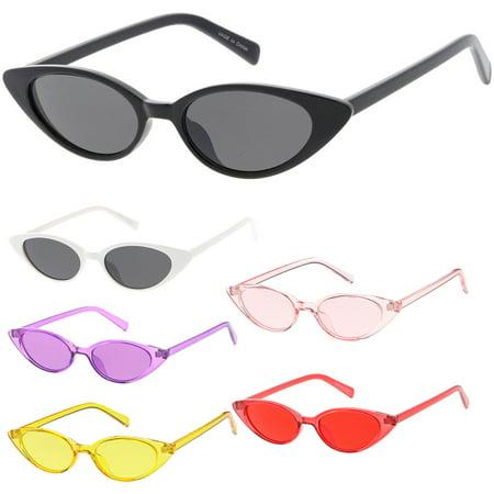 MLC Eyewear Small Tiny Cat Eye Sleek Fashion Sunglasses