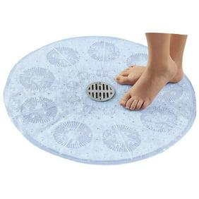 Fun /& Therapeutic PVC Bath//Shower Mat in a Bubble Design Blue
