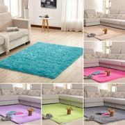 "Fluffy Floor Rug Anti-skid Shaggy Plush Rug Dining Room Carpet Yoga Bedroom Floor Mat/Cover Child Play Mat  160x120cm/ 63x47.2"" 13 colors"