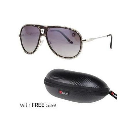 80's Mens Retro Vintage Classic Fashion Aviator Sunglasses Black White CASE 80's Retro Aviator Sunglasses