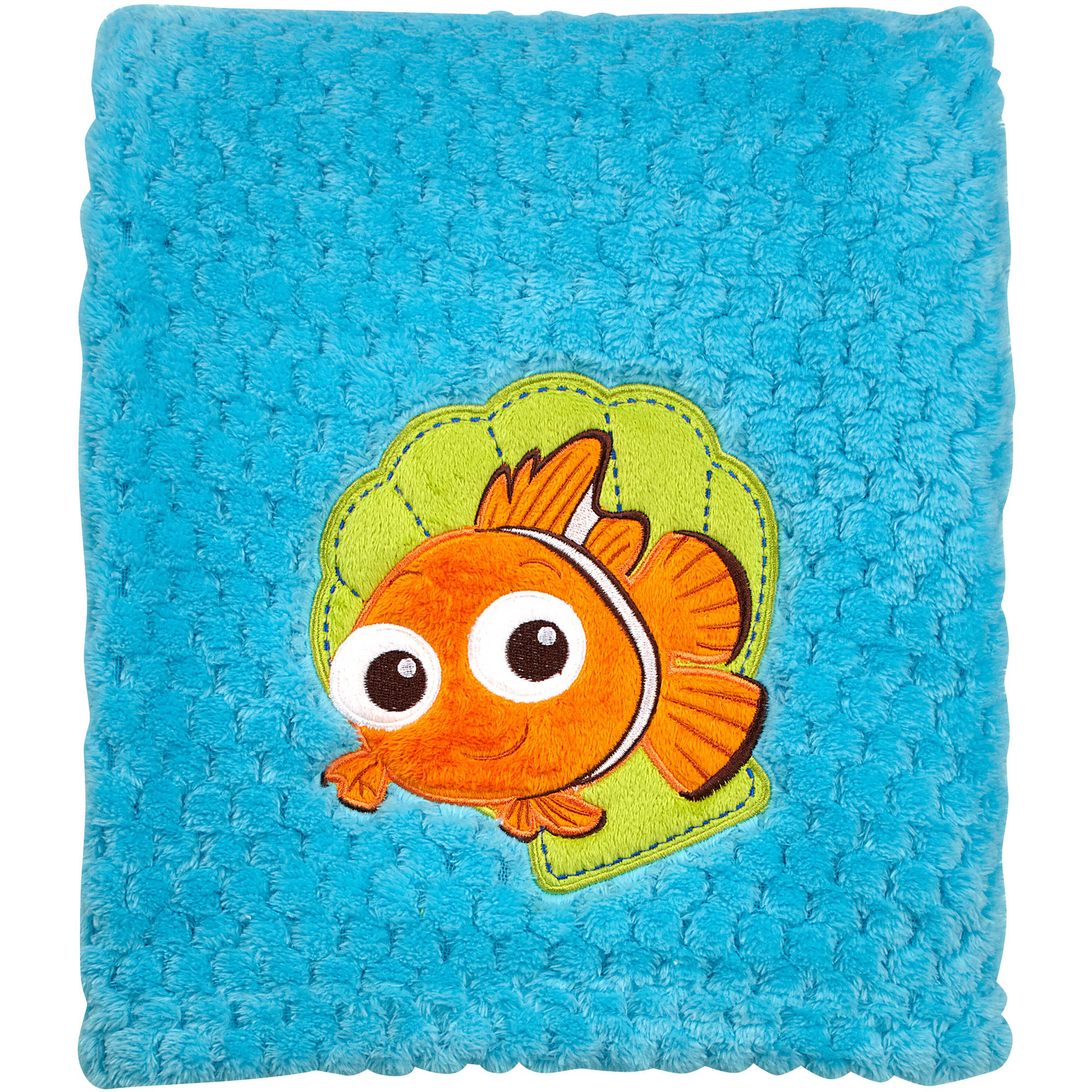 Disney Finding Nemo Plush Popcorn Applique Blanket