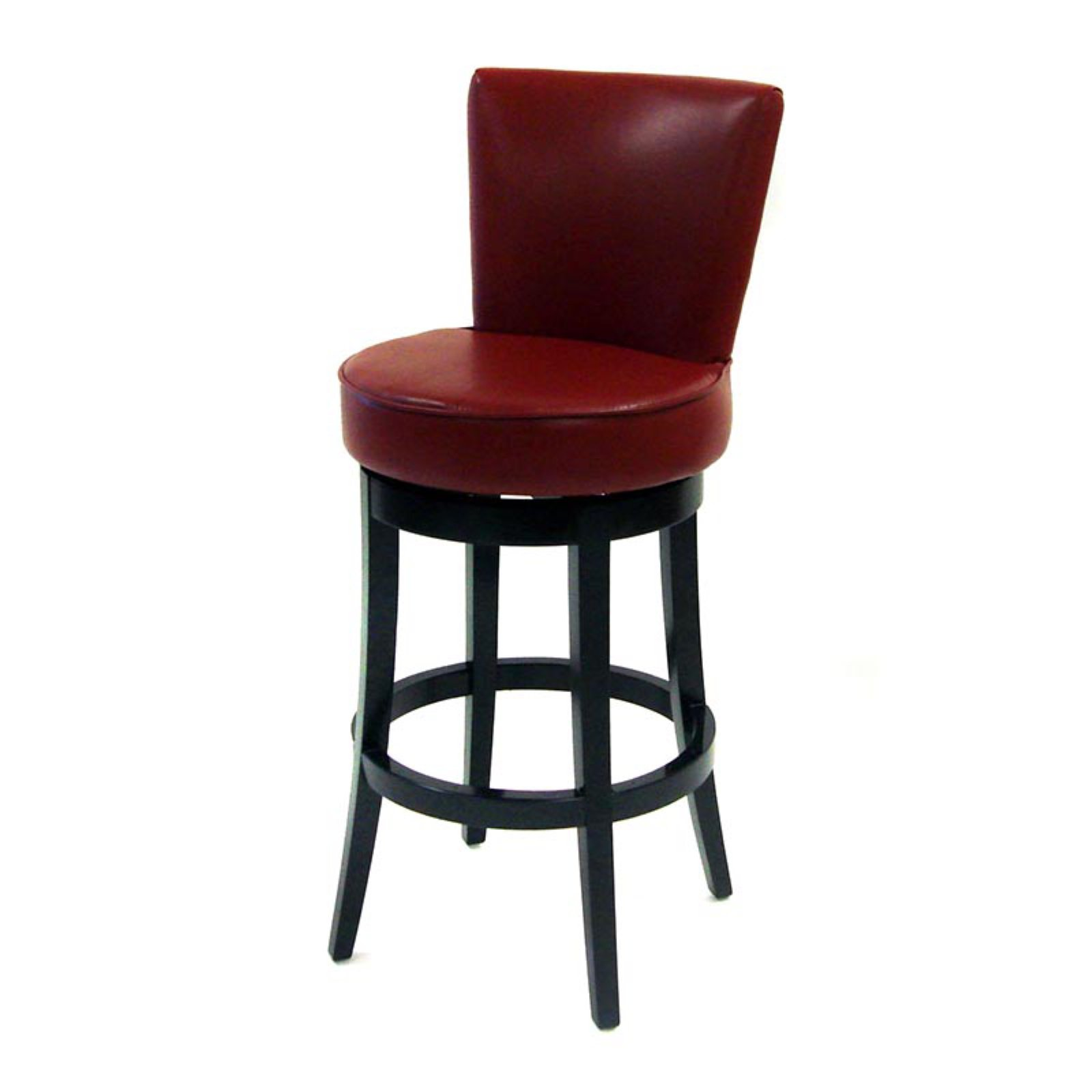 Boston Swivel Barstool, Red Bicast Leather, ...