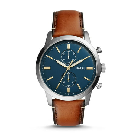 Men's Townsman Chronograph Luggage Leather Watch 44mm (Style: