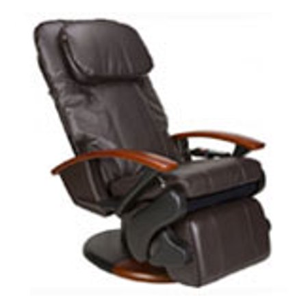 Human Touch HT 140 espresso bonded leather refurbished massage - Including Groung Curbside - Human Touch Leather