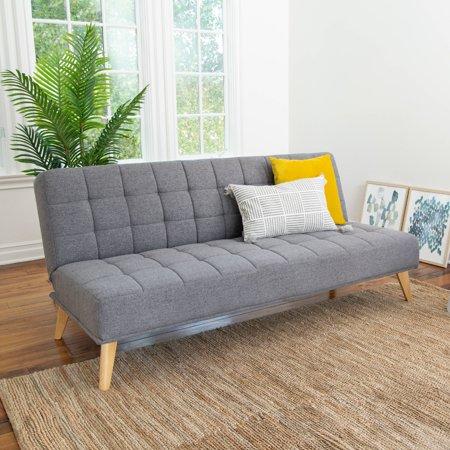 Devon & Claire Miles Tufted Fabric Convertible Sofa Futon, Multiple Colors
